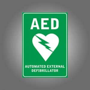 AED WALL SIGN STICKER A4