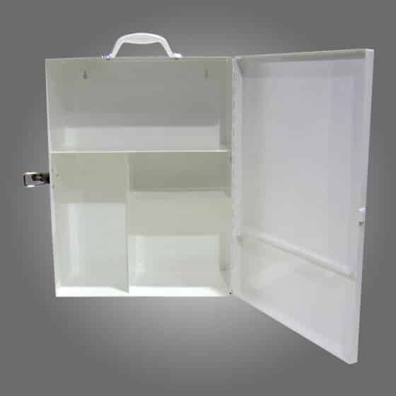 Aero Metal First Aid Cabinet - Medium Side Opening.