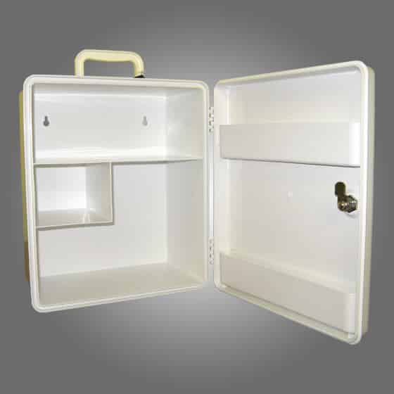 WHITE PLASTIC CABINET CODE OF PRACTICE LOW RISK WORKPLACE FIRST AID KIT