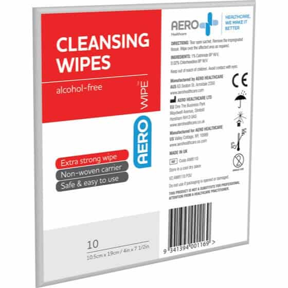 AERO WOUND CLEANING WIPE