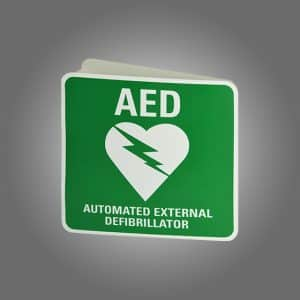 3D AED WALL MOUNT BRACKET SIGN