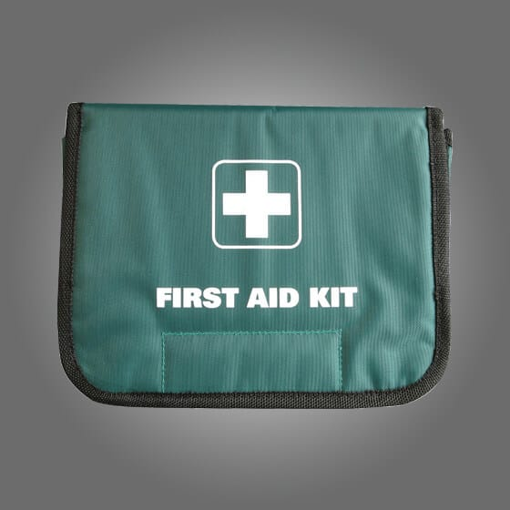 GREEN SOFTPACK FIRST AID BAGS