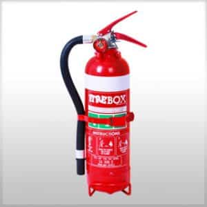 1.5KG DCP FIRE EXTINGUISHER C/W HOSE AND VEHICLE BRACKET