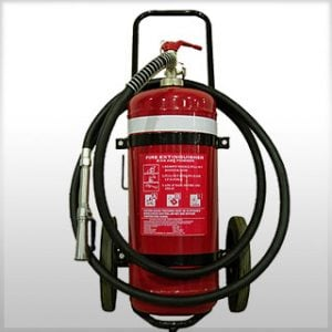 Type ABE mobile wheeled fire extinguisher 25kg