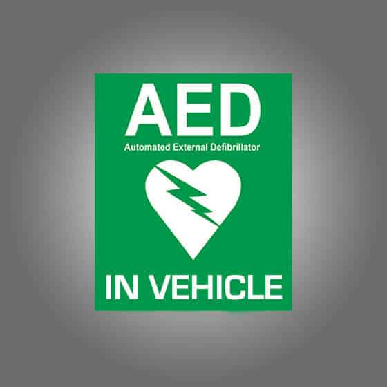 AED VECHILE SIGN