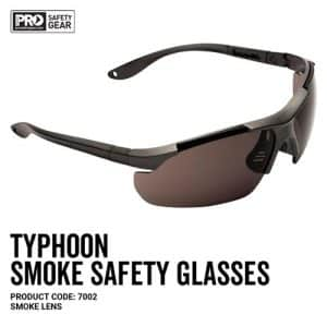 prochoice TYPHOON SAFETY GLASSES SMOKE LENS