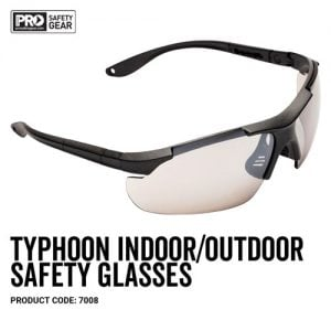 prochoice Typhoon Safety Glasses Indoor/Outdoor lens