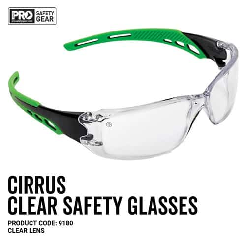 prochoice CIRRUS SAFETY GLASSES CLEAR LENS
