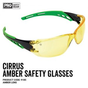 prochoice cirrus safety glasses amber lens
