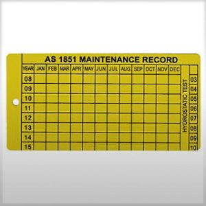 firebox Metal Maintenance Record Tags