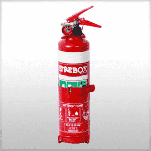 1.0KG DCP FIRE EXTINGUISHER WITH NOZZLE & VEHICLE BRACKET