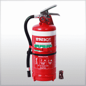 2.5KG DCP FIRE EXTINGUISHER WITH HOSE, VEHILE & WALL BRACKET