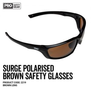 prochoice surge brown polarised safety glasses