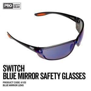 prochoice switch blue mirror safety glasses