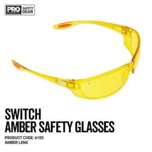 prochoice switch amber safety glasses