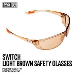 prochoice switch light brown safety glasses
