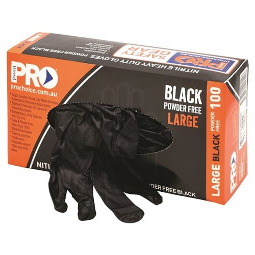 PROCHOICE DISPOSABLE NITRILE HEAVY DUTY GLOVES