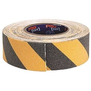 adhesive non slip hazard tape yellow/black 18m x 50mm