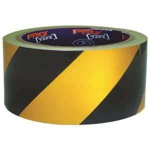 SELF ADHESIVE HAZARD TAPE YELLOW/BLACK .30M X 50MM