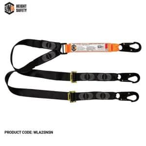LINQ elite double leg adjustable lanyard and hardware