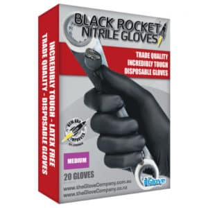 BLACK ROCKET NITRILE GLOVES